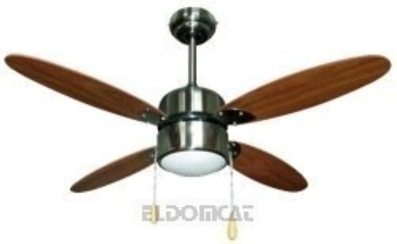 Zephir zfs4108m Ventilateur de plafond avec lampe, marron