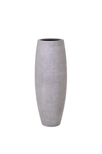 VIVANNO Pflanzkübel Pflanzgefäß Blumenkübel Fiberglas Beton-Design grau Magnum - 100 x 29 cm