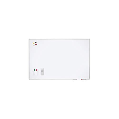 Rocada | Pizarra Blanca Magnética 100 x 200 con Marco de Aluminio | Pizarra de Pared Fácil de Borrar | Lacada con Marco de Aluminio Anodizado | Para Escritura con Rotuladores de Borrado en Seco