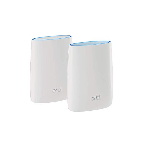 NETGEAR Orbi Tri-band Whole Home Mesh WiFi System with 3Gbps Speed (RBK50) – Router & Extender Replacement Covers Up to 5,000 sq. ft., 2-Pack...