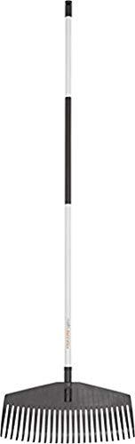 Fiskars Laubbesen, 25 Zinken, Breite: 52 cm, Kunststoff-Zinken/Aluminium-Stiel, Weiß/Schwarz, Light, 1019606