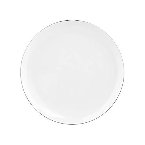 BUTLERS Silver Lining Teller Ø 27 cm - Hochwertiger Speiseteller und Essteller aus Qualitätsporzellan - Serviergeschirr