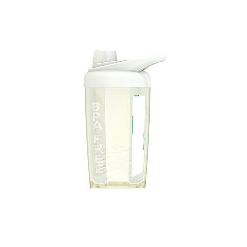 1 botella de agua reutilizable a prueba de fugas con mango beige 500 ml