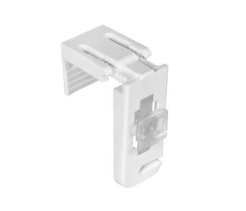 Gardinen21 4er Set Klemmträger für Plissees ohne Bohren I Klemmfix Zubehör I Klemmhalterung Befestigungs-Set in Weiß