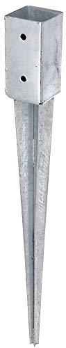 GAH-Alberts 211271 Einschlag-Bodenhülse | für Rund- oder Vierkantholzpfosten | feuerverzinkt | 71 x 71 mm | Gesamtlänge 750 mm