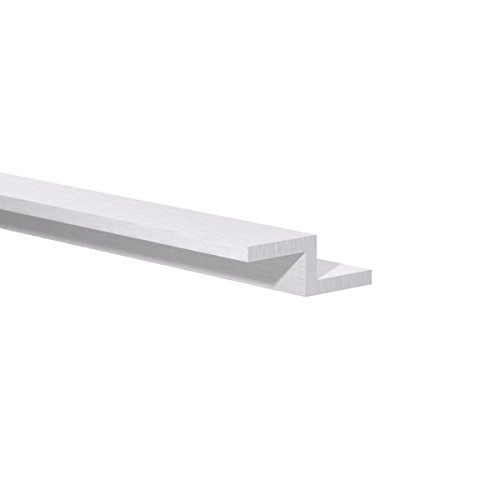 """Orange Aluminum - Aluminum Z Bar – Double Angle, Sharp Corner ZChannel Profile – Metal Zbar Rail Extrusion Hardware for Trims, Structural Mounting and More (1/2"""" H x 3/4"""" W x 1/8"""" Thick),6ft - 5 Pack -  OA9247"""