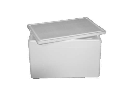 IHR FACHGESCHÄFT KLAASSEN Thermobox, Styroporbox für Essen, Getränke & temperaturempfindliche Ware   Isolierbox aus Styropor mit Deckel   Maße: 40 x 30 x 21 cm   Wandstärke: 3 cm   Volumen: 12,3 L