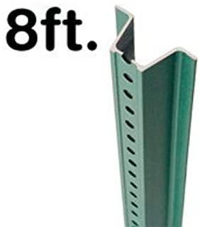 SmartSign U-Channel Sign Post, Heavy Weight | 8' Tall Baked Enamel Steel Post - Pack of 1