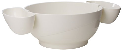 Prodyne Chips and Dips Bowl, White 3-Piece