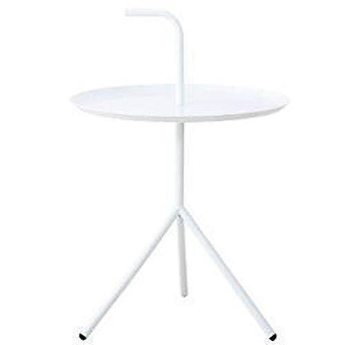Ybzbx Modern Coffee Table White Nordic Modern Simple Small Round Table Mesita...