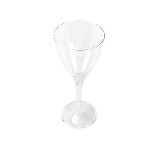 Hochwertiges Weinglas Plastik Einweg Weinbecher transparent 130 ml 10 Stück