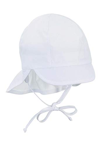 Sterntaler Baby-Mädchen Schirmmütze mit Nackenschutz Mütze, Weiß (Weiss 500), Gr.47