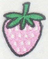 ワッペン イチゴ 薄いピンク EM-29