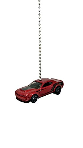Dodge Challenger Charger Diecast Ceiling Light Fan Chain Pull Ornaments (2018 Dodge Challenger SRT Demon Red)