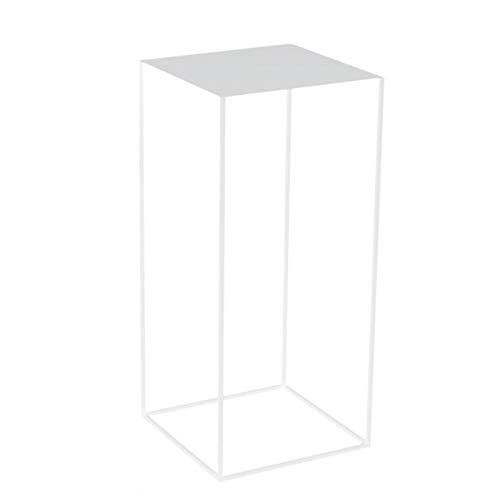 JCNFA Shelves Living room sofa side table, Narrow shelf, Square table, Combination kit side table, 3 colors (Color : White, Size : Large)