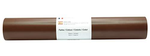 Vinyl Folie selbstklebend 3m versch. Farben Folie Braun-Matt