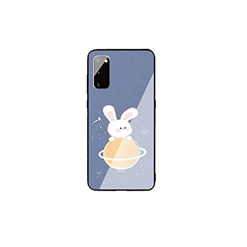 Lindo conejito teléfono caso contraportada para Samsung Cases S20 Plus S10 Nota 8 9 10 10PRO vidrio templado suave silicona Edge-a8-para Samsung A72018