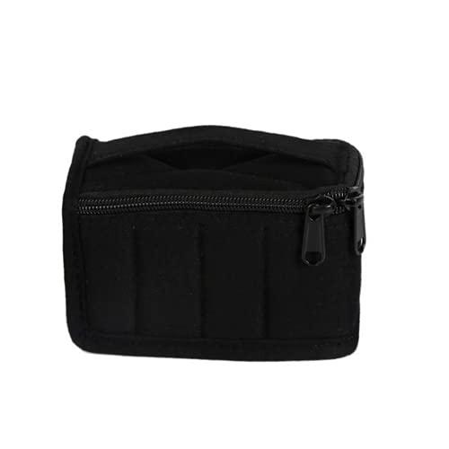 RRTYA Mini 8-Grid Portable Aceites Esenciales Estuche de Almacenamiento Estuche de Transporte de Aceite Esencial Roll On 5 ml Aceite Esencial Estuche de Recogida (negro)