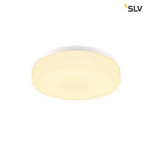 SLV Lipsy 30 Drum CW Applique murale et plafonnier LED d'extérieur en aluminium Blanc IP44 3000/4000 K 15 W