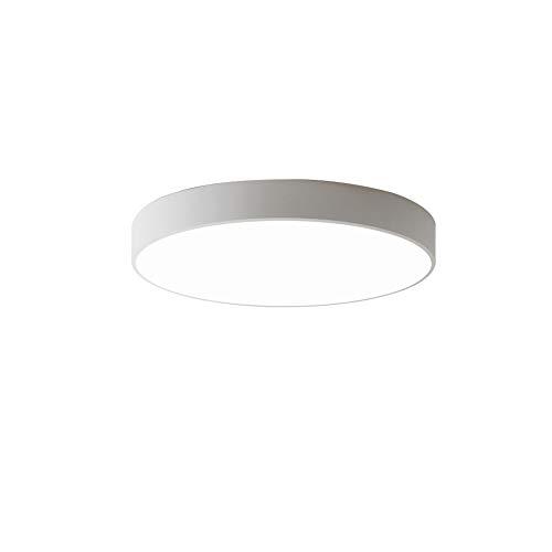 BigPinwheel Minimalist LED Colorful Macaron Lámpara de techo, lámpara de techo creativa nórdica moderna de montaje empotrado, 3 temperaturas de color, dormitorio, comedor, sala de estar (White, 40cm)