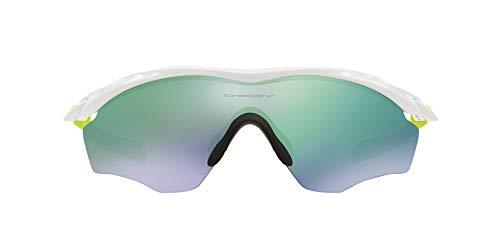 Oakley M2 Frame XL 934307, Occhiali da Sole Uomo, Colore delle lenti JADEIRIDIUM, Montatura Bianco (Polished White)