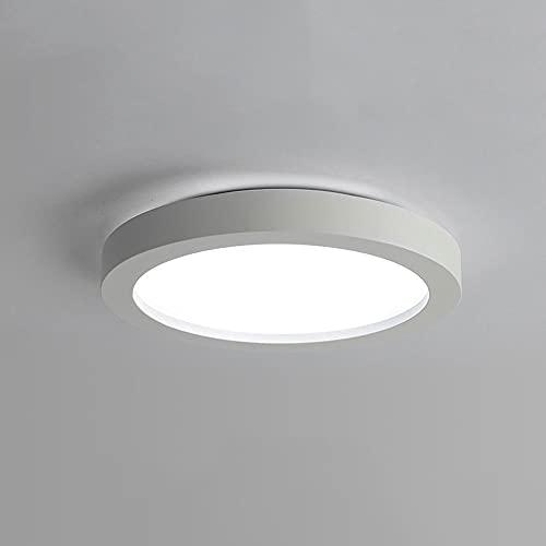 LPFWSK Luz de Techo de Dormitorio Redonda, Montaje en Descarga, Accesorios de iluminación de Sala de Estar, Regulable (3000k / 4500k / 6000k) Lámparas de Techo de Sala de Estudio