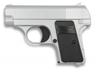 ALBAINOX - 35501. Pistola de Airsoft Golden Eagle. Negra y Plata. Sistema de Muelle. Energia de 0,25 Julios