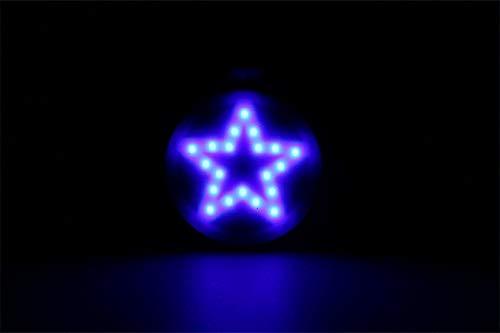 MASO Feu arrière de vélo, rechargeable par USB, étanche, éclairage LED haute luminosité multi-mode étoile à cinq branches 2 couleurs