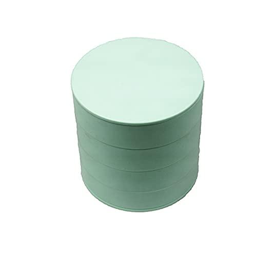 SONG Caja de Almacenamiento de Joyas Bandeja de Almacenamiento de Accesorios de joyería giratoria de 4 Capas con el Tapa de Maquillaje Organizadores Caja de Almacenamiento Conveniente (Color : Green)