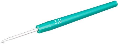 Gründl 1219-300 Häkelnadel, Metall mit Kunststoffgriff, grün, 3 mm