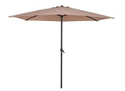 HERMO ROUN - Sombrilla para mesa de patio o jardín, 274,3 cm de diámetro (beige)