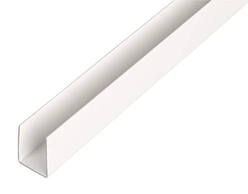 GAH-Alberts 484545 U-Profil | Kunststoff, weiß | 1000 x 21 x 20 mm