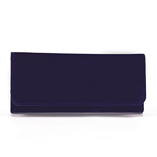 HNGM Cajas para joyasJoyero Nueva Caja de joyería de joyería Azul de la joyería Plegable Caja de Rollo de joyería con Cremallera Bolsa de Almacenamiento de Bolsillo para Anillos Collares Pulsera