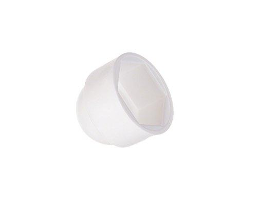 25 Stck. Schutzkappen für Schrauben M8 (für Schlüssel 13) Weiß Abdeckkappen Blindstopfen Endkappen