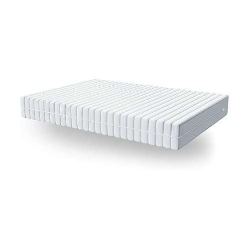 Hilding Sweden Essentials Komfortschaum Matratze, mit orthopädischem 7-Zonen Schnitt (H3 - H4) XXL, 100 x 200 x 26 cm für alle Schlaftypen, Bezug bei 60°C waschbar