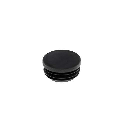Rundstopfen 25 mm schwarz | 20 Stück | Kunststoff Lamellenstopfen Abdeckkappe