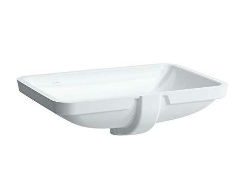 Laufen PRO S Einbauwaschtisch, ohne Hahnloch, mit Überlauf, 595x430, US geschl, weiß, Farbe: Weiß mit LCC