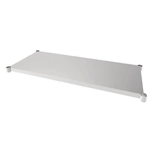 Vogue acero inoxidable estante de mesa 700x 1500mm para Mesas Muebles de...
