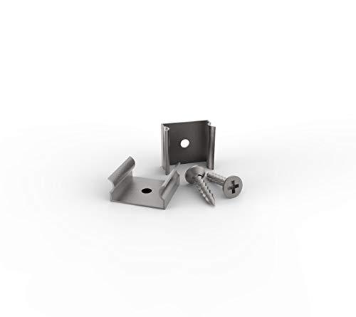 SET: Profilhalterung Clips für LED Profile LT2, LT4, LT6, LT5, LT18, 6er PAK (6er PAK)