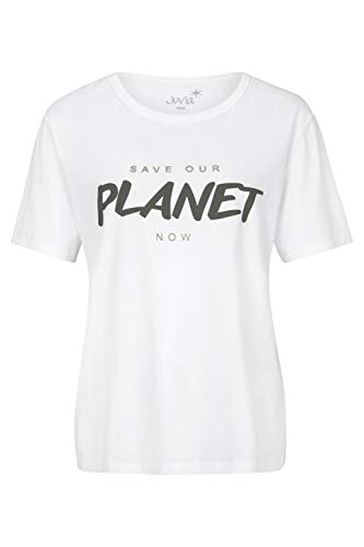 Juvia Damen T-Shirt mit Print Weiss - S