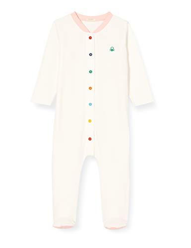 United Colors of Benetton (Z6ERJ TUTINA Mono, Snow White 074, 74 cm para Bebés