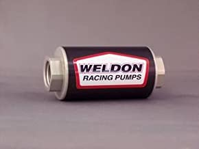 Weldon Racing EFI/Carbuerted Fuel Filter Assembly (-10 Inlet and -10 Outlet w/ 100 Micron Stainless Steel Filter)