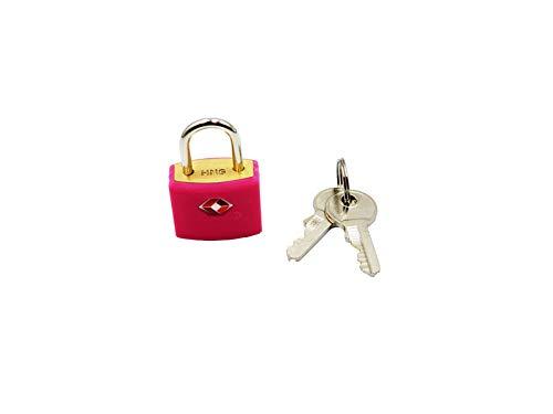 Logic(ロジック) TSA対応 ロックフック型 南京錠 (ピンク) シンプル 小型 鍵 [郵便受け/スーツケース/旅行]