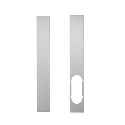 prettyoga 110cm Placa De Kit De Ventana/Adaptador De Ventana, 2 Piezas Placa De Kit De Ventana Ajustable Manguera De Escape / 6 '' Conector De Adaptador De Ventana Aire Acondicionado Portátil