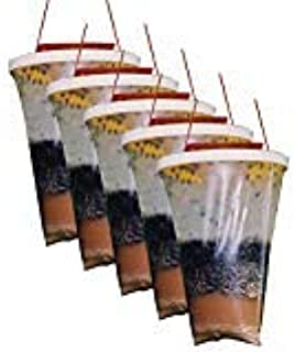 Flies Be Gone Fly Trap - Disposable Non Toxic Fly Catcher - Natural Bait Trap For Patios, Ranches, Outdoor Environments - Easy To Use Outdoor Fly Trap, Keeps Flies From Coming Indoors (5-Pack)