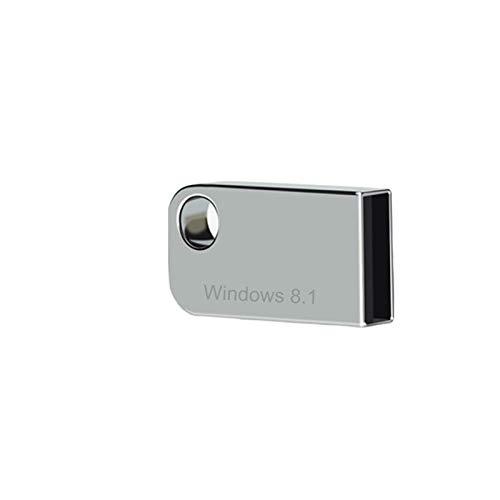 ILamourCar USB for Windows 8.1 Repair Recovery Install Restore Boot Fix Flash Drive, 64 Bit Systems, Core/Pro/Enterprise, 16 GB for Desktop&Laptop - Light Silver