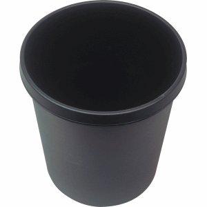 Helit Papierkorb 18l schwarz