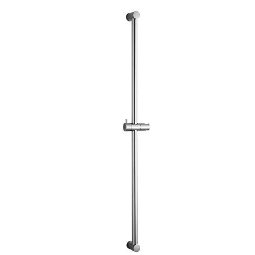 OFFO シャワースライドバー スライドバーは設置距離を調整できます(600mm-1000mm) スライドバー付シャワーフック シャワ角度調節可能 浴室用クロムめっきのステンレス制品 長さ100cm(1000mm)