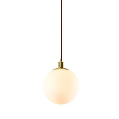 Luz colgante nórdica, LED simple Lámpara de lámpara de lámpara de araña de latón 1.8m CAMBIO CAMBIO Lámpara colgante Ajustable Sala de estar Habitación Dormitorio Sala de comedor Iluminación decorativ