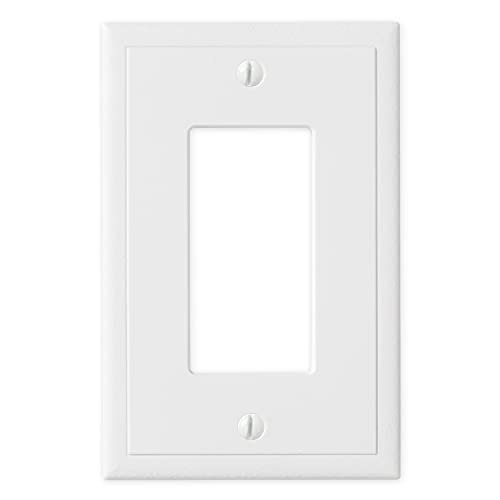Single Rocker - White Polished Light Switch Cover Ambient Decorative Outlet Cover Wall Plate